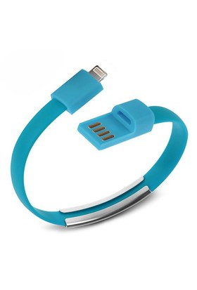 Codegen Apple iPhone 5/6/6s serisi uyumlu Bileklik Şarj Data Kablosu Mavi - 599010227