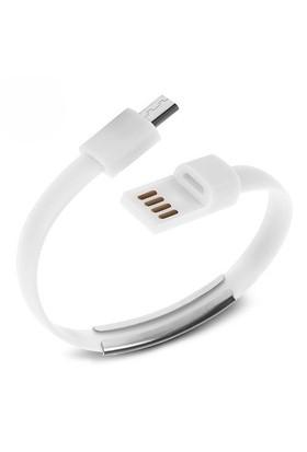 Codegen Micro USB uyumlu Bileklik Şarj Data Kablosu Beyaz - 599010230