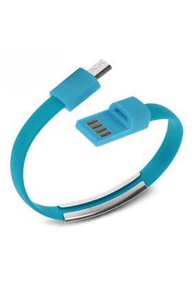 Codegen Micro USB uyumlu Bileklik Şarj Data Kablosu Mavi - 599010233