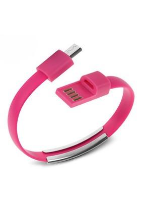 Codegen Micro USB uyumlu Bileklik Şarj Data Kablosu Pembe - 599010232