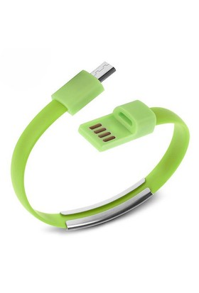 Codegen Micro USB uyumlu Bileklik Şarj Data Kablosu Yeşil - 599010234