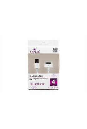 Cepium Apple iPhone 4/4S/3G/3Gs USB Kablo - 11912