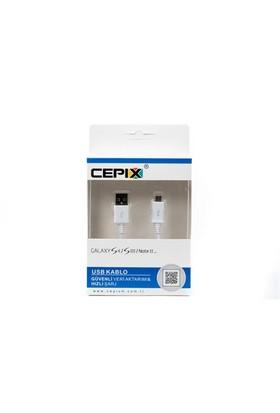 Cepix Galaxy S4 i9500/S3/Note2 Micro Usb Kablo (Slim Box)-11914