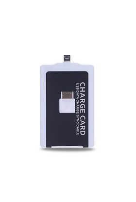 Ally Charge Card Micro Usb Kablo Siyah - Beyaz
