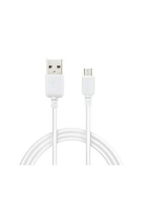 Qpars Micro Usb Kablo Sony Lg Samsung Micro Usb Şarj Data Kablo Beyaz