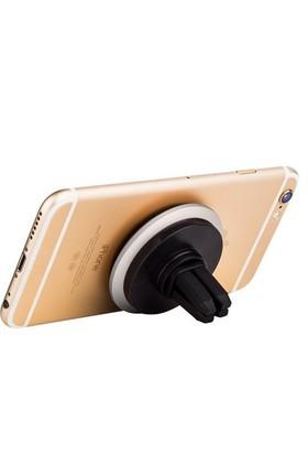 Joyroom Manyetik Telefon Araç Havalandırma Tutucu Ve Selfie Yüzüğü-Gümüş