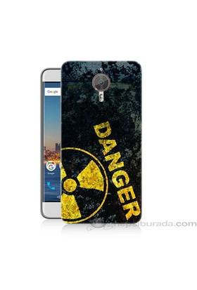Teknomeg General Mobile Discovery Gm5 Plus Tehlikeli Baskılı Silikon Kapak Kılıf