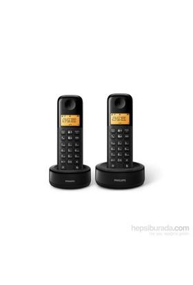Philips Dect Telefon D1302B/TR Siyah