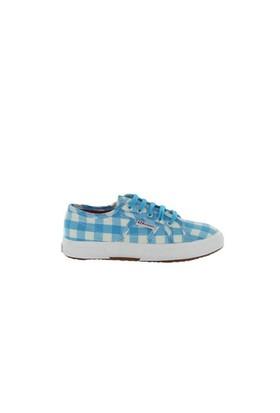 Superga S006Cy0-A37 2750 Cotjshirt CheckTurquoise White Çocuk Günlük Ayakkabı