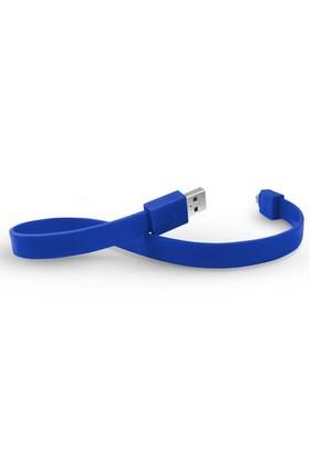 TYLT Data Micro USB Mobil Cihaz Şarj ve Senkronizasyon Kablosu (Mavi, 30 cm)