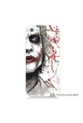 Teknomeg İphone 5S Kapak Kılıf Kanlı Joker Baskılı Silikon