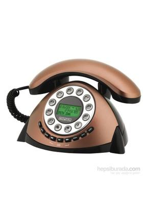 Alcatel Retro Cid Masa Telefonu Bakır
