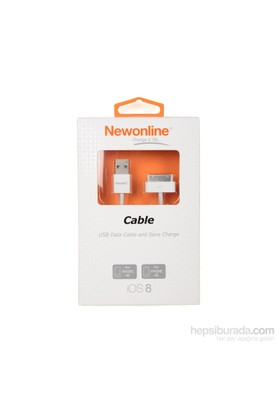 Newonline iPhone 4G/3G USB Data ve Şarj Kablosu - (NW-IP4-KB)