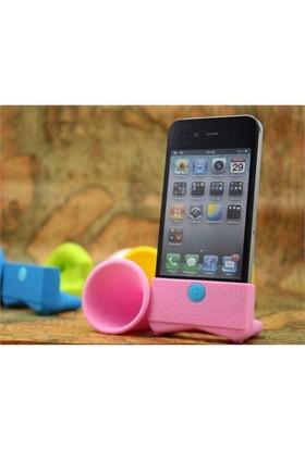 Markacase İphone 5 Ses Yükseltici Horn Speaker Pembe
