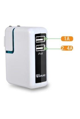 Ulove UAD08 -3400mA 2 USB port Şarj Cihazı - UAD08