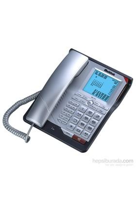 Multitek MC 210 Cid. Masa Telefonu Gümüş Mor