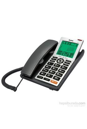 Multitek MC 140 Cid. Masa Telefonu Koyu Gri (Siyah)