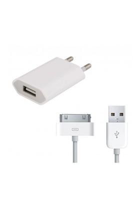 Sfm İphone 4/4S Şarj Cihazı + Usb Kablo
