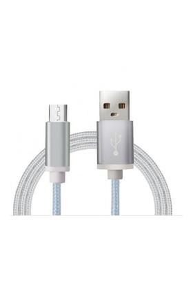 Sfm Micro Usb Örgü Kablo 1.5Mt. Gümüş