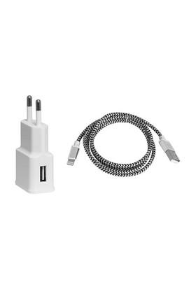 Frisby Seyahat 2 Amper ile Hızlı Şarj Cihazı ve iPhone Data Kablosu – FA7532IPU
