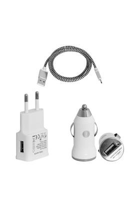 Frisby Çakmak Tipi Araç (1xUSB 5V/1A)#Seyahat 2 Amper ile Hızlı Şarj Cihazı ve Micro USB Data Kablosu – FA-7540MU