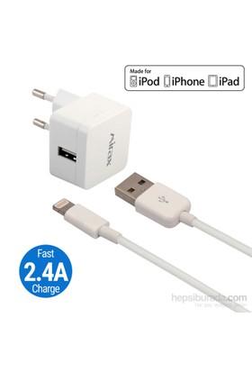 Mirax iPhone 6S/ 6SPlus/ 6/ 6Plus/ 5/ 5S/ 5C Şarj Kiti - SWT-5220 - Apple Lisanslı Ürün