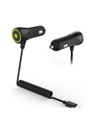 Muvit Car Charger Lightning Kablolu iPhone, iPod Araç Şarj Cihazı (Siyah)