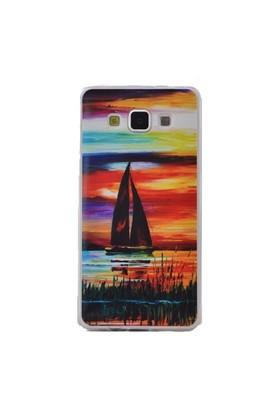 Teleplus Samsung Galaxy A7 Desenli Silikon Kılıf Manzara