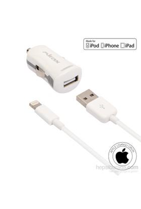 Mirax iPhone 6/6Plus/5/5S/5C/iPad/Pod Araç Şarj Kiti (Apple Lisanslı) - mirax SCT-5210