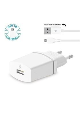 Ttec Compact Seyahat Şarj Cihazı Micro Usb 1.000Ma Beyaz – 2Scc752b