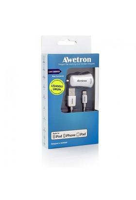 Awetron AWE-105 Apple Lisanslı 2,1 A Hızlı Araç Şarjı