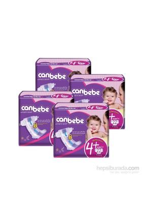 Canbebe Bebek Bezi Süper Ekonomi 4'lü Paket 4+ Beden 88 Adet