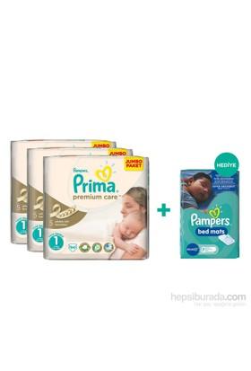 Prima Bebek Bezi Premium Care Mega 3'lü Paket Yenidoğan 1 Beden 282 Adet