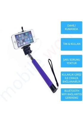 Mobile World Dahili Kumandalı Otomatik Selfie Çekim Çubuğu Mor - 2078