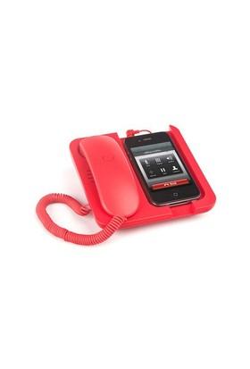 Balvı Blv24960 Retro Telefon Ahizesi Standlı Kırmızı