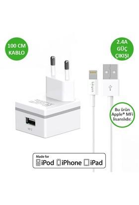 Lityus Duvar Şarj Cihazı + Lightning Kablo (Beyaz) - AKLWCS0102