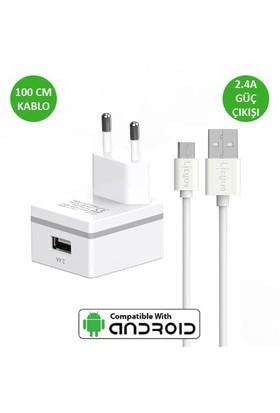 Lityus Duvar Şarj Cihazı + Micro Usb Kablo (Beyaz) - AKLWCS0202