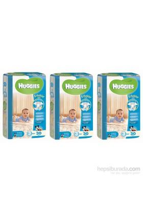 Huggies Oğlum İçin Bebek Bezi 3 'lü İkiz Paket 3 Beden 90 Adet