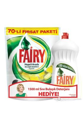 Fairy Hepsi Bir Arada Bulaşık Makinesi Kapsülü Limon 70 Yıkama kk