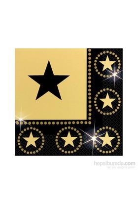KullanAtMarket Hollywood Yıldızı Peçete 16 Adet