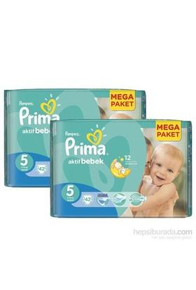 Prima Bebek Bezi Kuru ve Hesaplı 2'li Paket 5 Beden 84 Adet