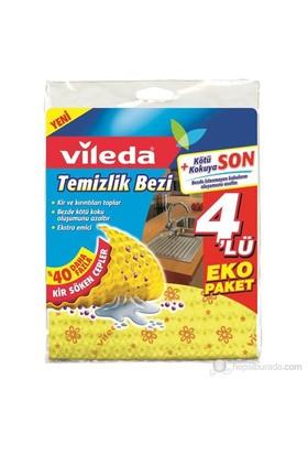 Vileda Temizlik Bezi 4lü Eko Paket