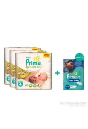 Prima Bebek Bezi Premium Care Mega 3'lü Paket 2 Beden 270 Adet