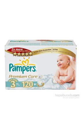 Prima Bebek Bezi Premium Care Fırsat Paketi 3 Beden 120 Adet
