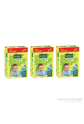 Komili Bebe Bebek Bezi 3 Beden 3'lü Dev Ekonomi Paket 216 Adet