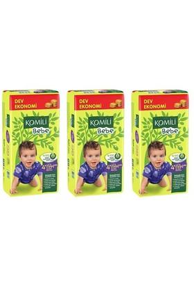 Komili Bebe Bebek Bezi Dev Ekonomi 3'lü Paket 4+ Beden 156 Adet