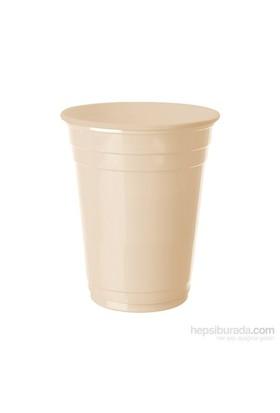 KullanAtMarket Krem Plastik Büyük Meşrubat Bardağı 8 Adet