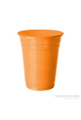 KullanAtMarket Turuncu Plastik Büyük Meşrubat Bardağı 8 Adet