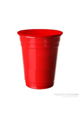 KullanAtMarket Kırmızı Plastik Büyük Meşrubat Bardağı 8 Adet