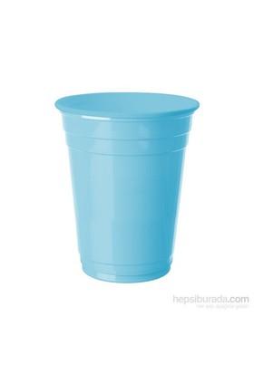 KullanAtMarket Bebek Mavisi Plastik Büyük Meşrubat Bardağı 8 Adet